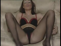 British slut Tammie plays with herself in various scenes