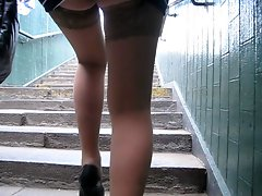 upskirt stockings outdoor