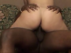 Black guy fills slut with his manhood