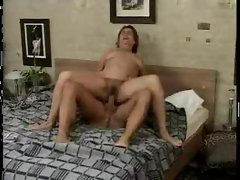 mature on the bed