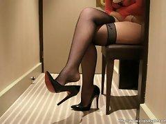 louboutin heels dangling