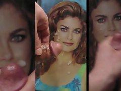 Kathy Ireland retro duelling tributes cum pic facial