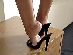 latin legs and feet in high heels