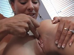 MILF hottie in action with a chick