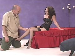 Awesome Brunette RHT Foot Play