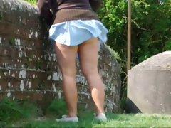 wife walking around wiltshire