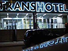 TRANNY BITCH LEAVING THE TRANS HOTEL