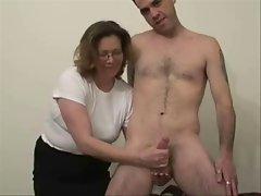 Mrs Sanders Milks Cock