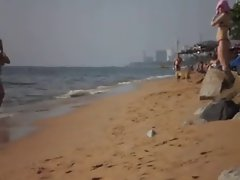 Rus Public Masturb BEACH Flash Watching GIRLS 64 - NV