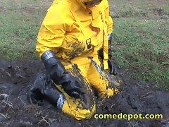 Mud Play in Rain Gear