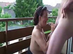 Slutty Mature Wife Doggystyled On The Balcony
