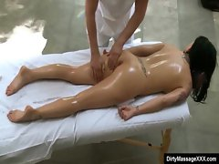 Sexy Big Tit Babes Fucked by Horny Masseur 15