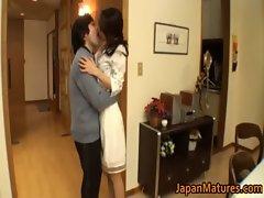 Horny japanese mature babes sucking