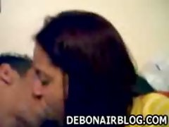 Punjabi couple in very hot kiss and smooch