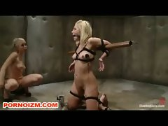 Lesbian Electro BDSM Slave Ashley Fires