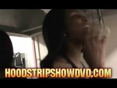 black hood ghetto Strippers gets a surprise phone call