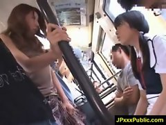 Hot Young Japanese babes Fuck In Public video-26
