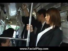Sexy Japanese Teens Take Nasty Facial Cumshots 09