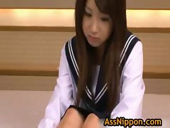 Lovely Asian Student Plays Some