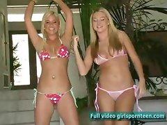 Alison and Lia fun blonde girl