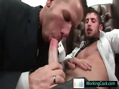 Shane sucking and fucking his future boss By WorkingCock