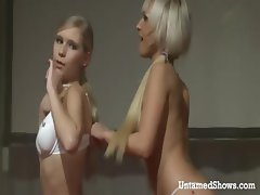 Hot strippers having fun on the stage