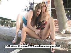 Leslie and Danielle tender gorgeous lesbians fingering