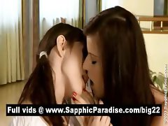 Megan and Lisette brunette lesbians kissing and having lesbian sex