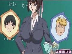 Hentai teacher gets fingered
