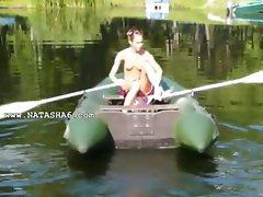 Amateur czech Natasha in the boat
