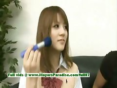 Risa Tsukino innocent asian girl is a cute schoolgirl