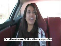 Shana stunning petite brunette girl travelling