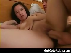 Chinese karen gets her tight pussy