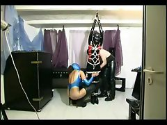 Dominant couple tortures a slave girl