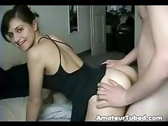 She sits on his face, sucks his dick and gets some doggy style