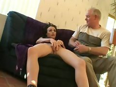 Old guy filmed fucking a hot young thing