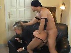 Horny mature slut in boots stars in fuck video