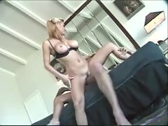 Blonde is incredibly hot sitting on his thick cock