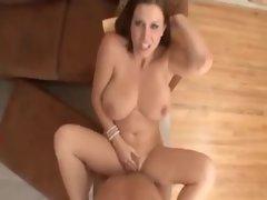 Curvy beautiful girl titjob and POV sex
