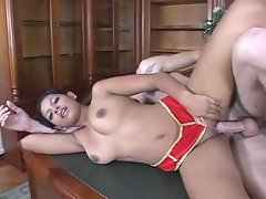 Sex in his home office with a hottie
