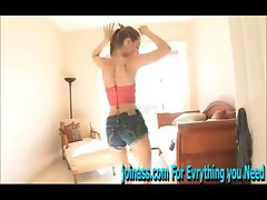 Riley sexy then do a sensual dance with naked tits and pussy