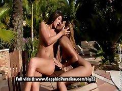 Klaudia and Natali astonished lesbian babes fingering