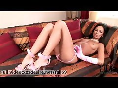 Regina _ Horny brunette stripping and showing us her sexy body