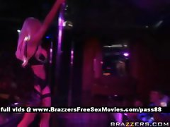 Sweet blonde slut in the club dancing