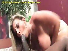 Blonde MILF Rides Big Black Tool