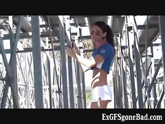Exciting female football player  part6