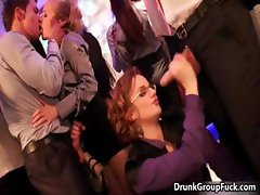 Horny drunk girl with glasses is blowing part6