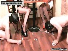 Big tits Carmen fisting bondage part4