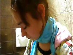 Petite Natasha chick naked at toilet