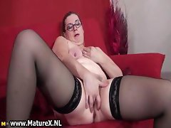 Dirty blonde housewife gets part1